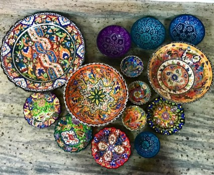 Middle Eastern handpainted ceramics
